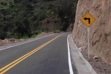 Pavimentada vía Isnos, La Portada y Sombrerillos