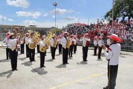 Banda de marcha de Colegio Comfamiliar en evento nacional