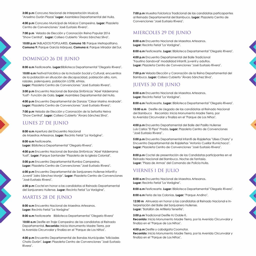 Asi sera la programacion del Festival de San Pedro 3