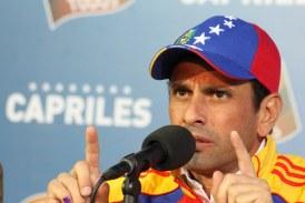 Prohíben salida de Henrique Capriles de Venezuela