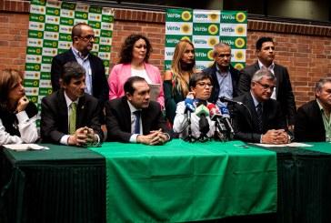Coalición de Alianza Verde declara la guerra a la corrupción