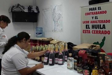 Nuevo decomiso de licor de contrabando en el Huila